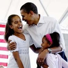 Obama dan putrinya doc. Google